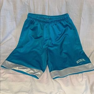 Nike Blue & White Basketball Shorts : Girls 10/12